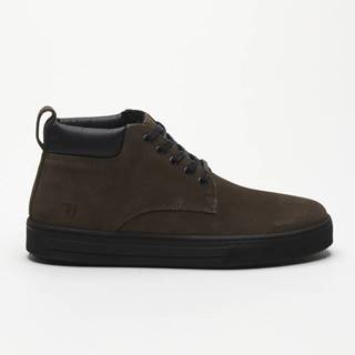 Topánky Trussardi Desert Boot Suede Logo Embossed Hnedá